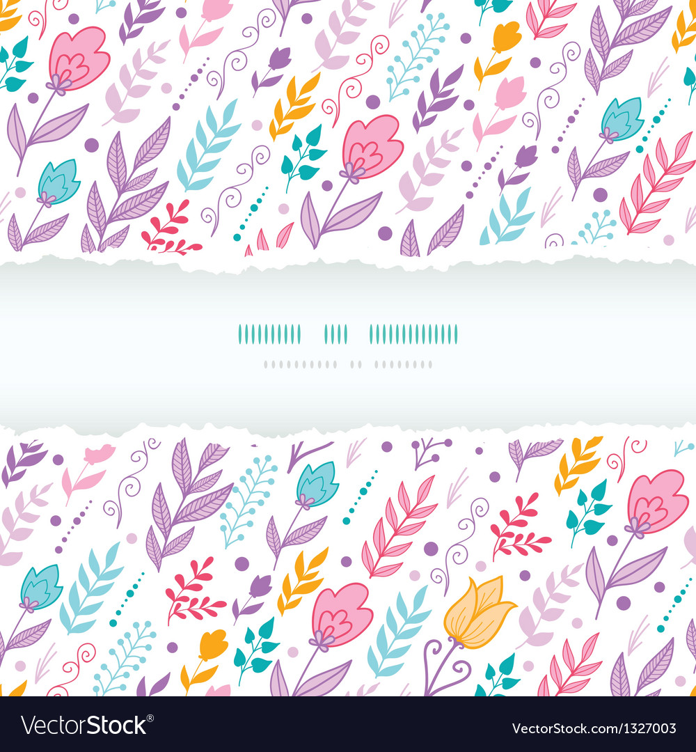 Colorful tulip flowers seamless pattern