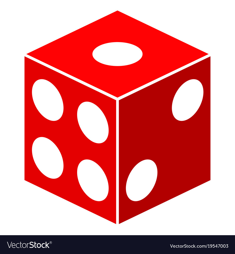 dice cube flat icon royalty free vector image vectorstock rh vectorstock com dice vector art dice vector images