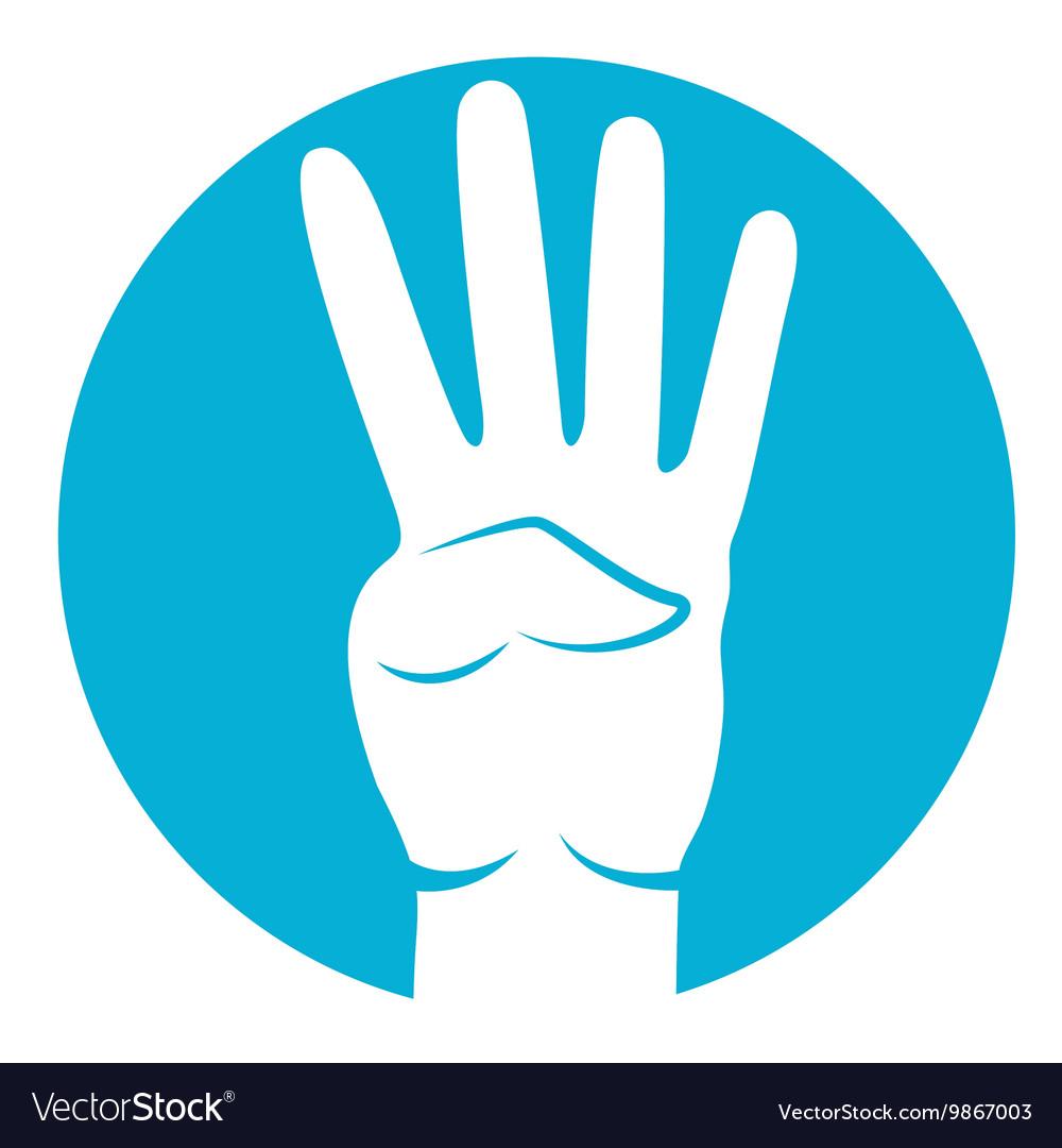 Four fingers icon