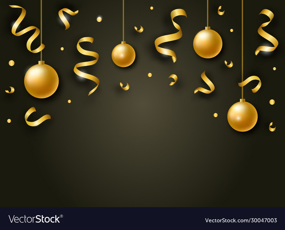 Happy new year background with golden shiny