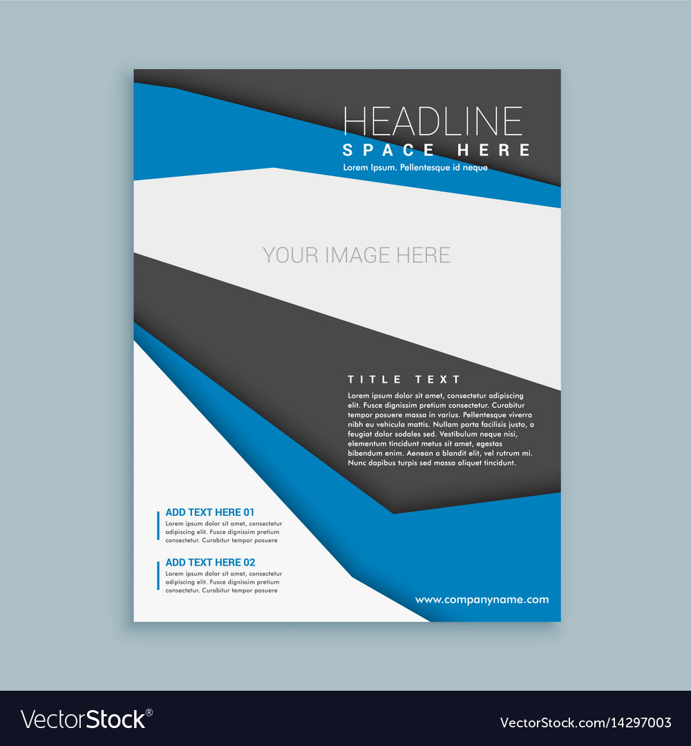 Modern Brochure Flyer Template Royalty Free Vector Image
