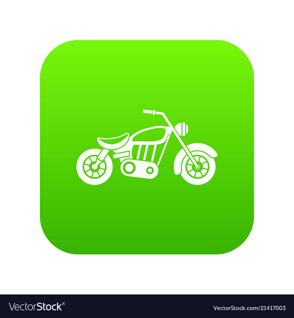 Motorcycle icon digital green