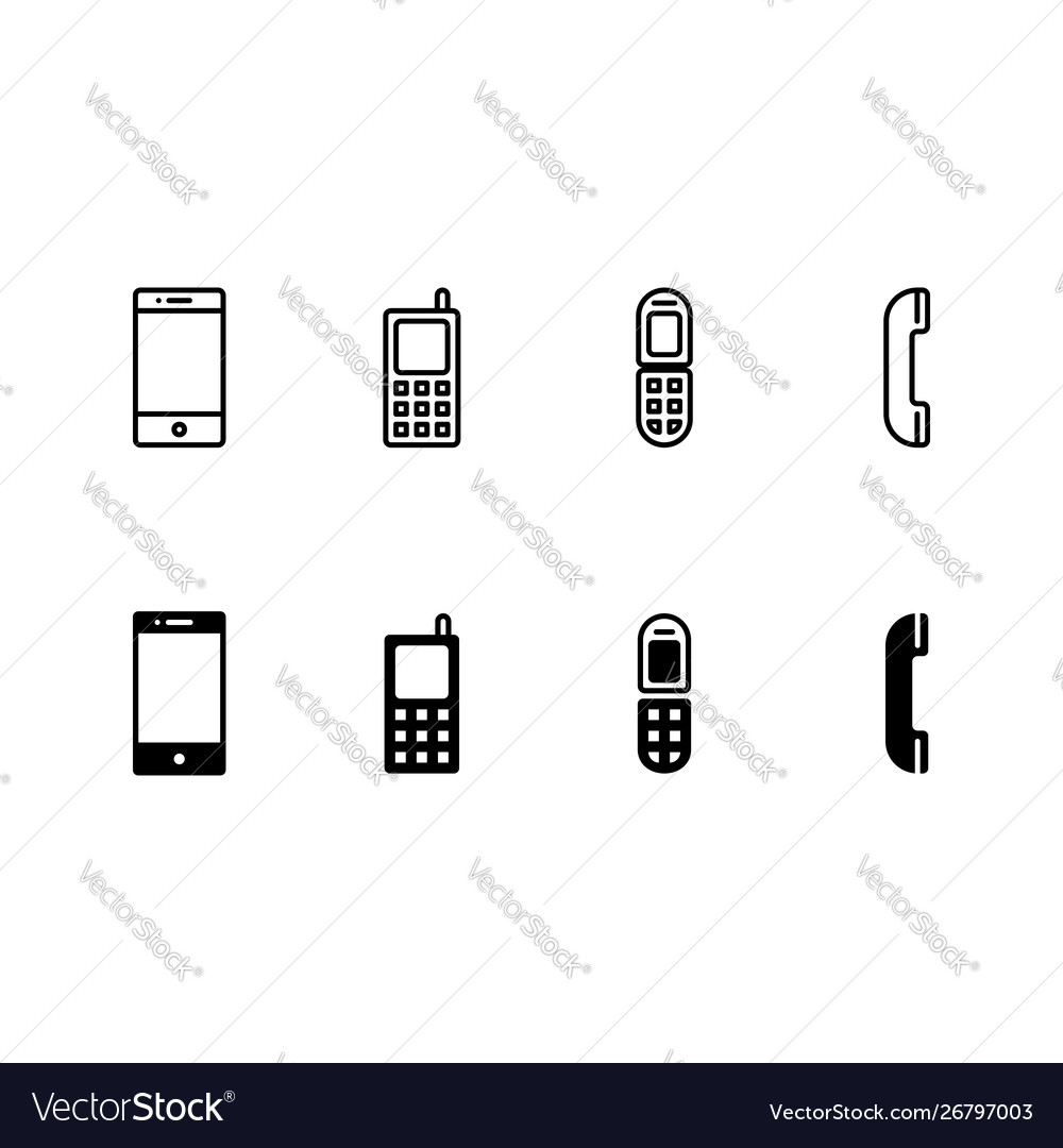 Phone device icon isolated