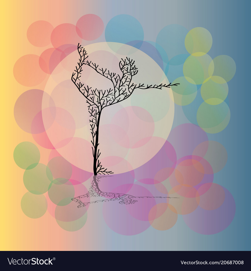 Abstract yoga pose vector image