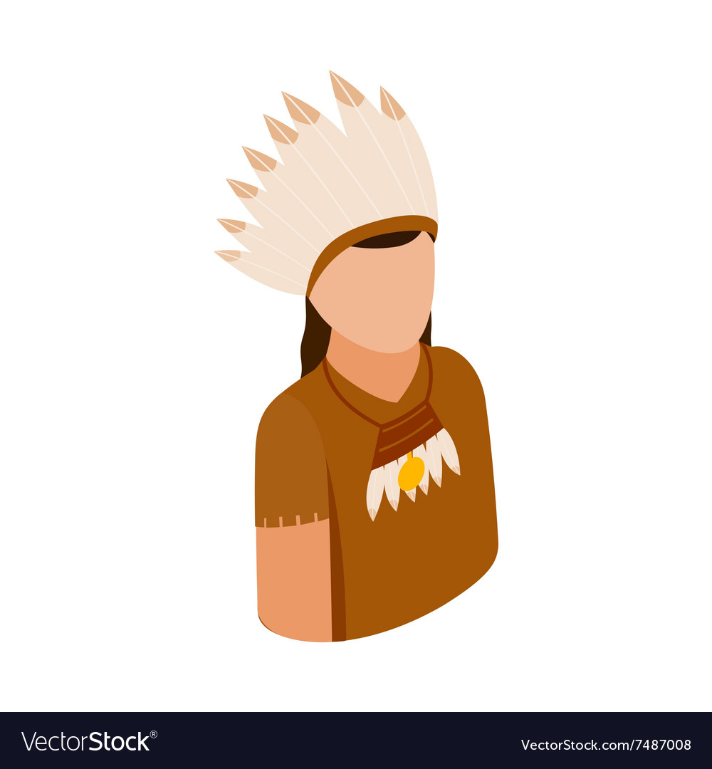 American indian isometric 3d icon