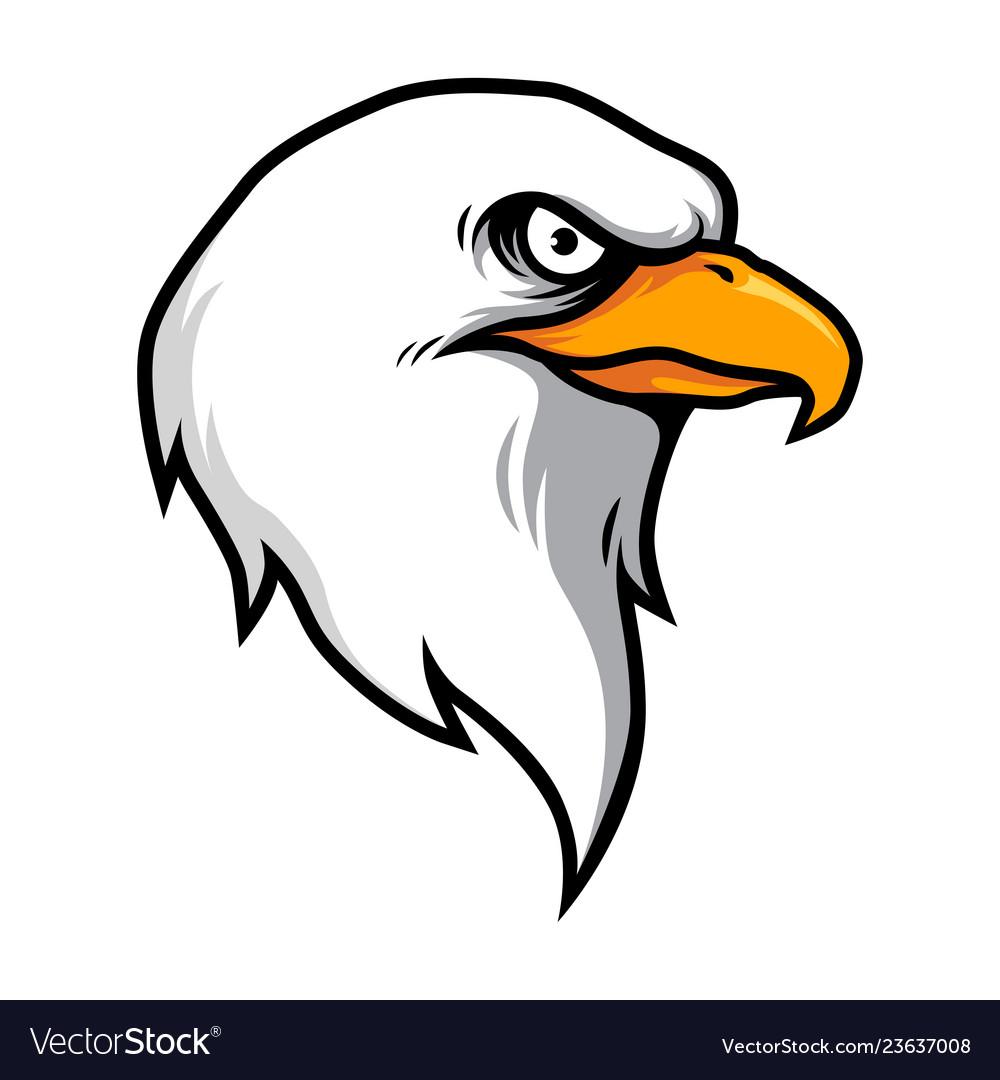 Eagle head mascot in cartoon style