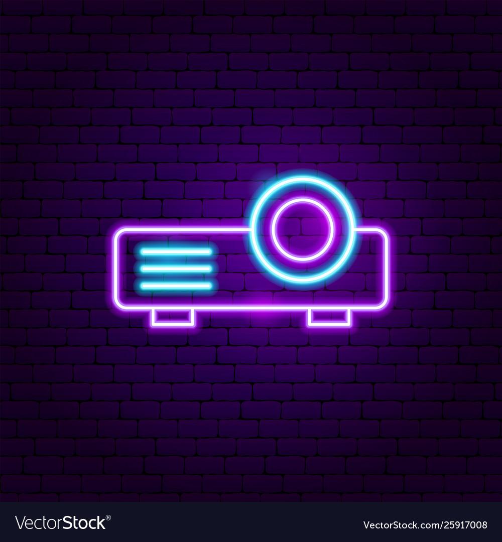 Film projector neon label