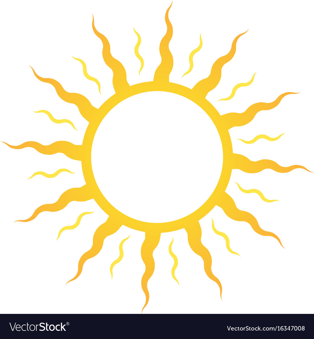 Icon or logo sun for sun deck or cosmetics for