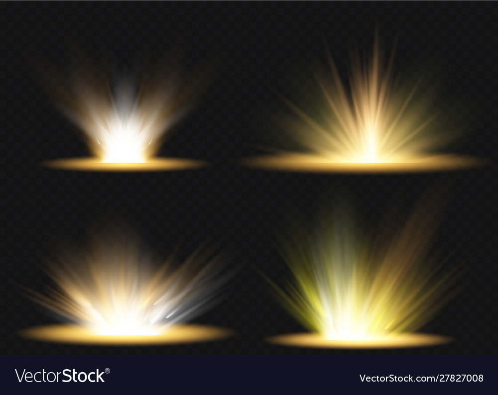 Effect With Rays Light And Vector Image