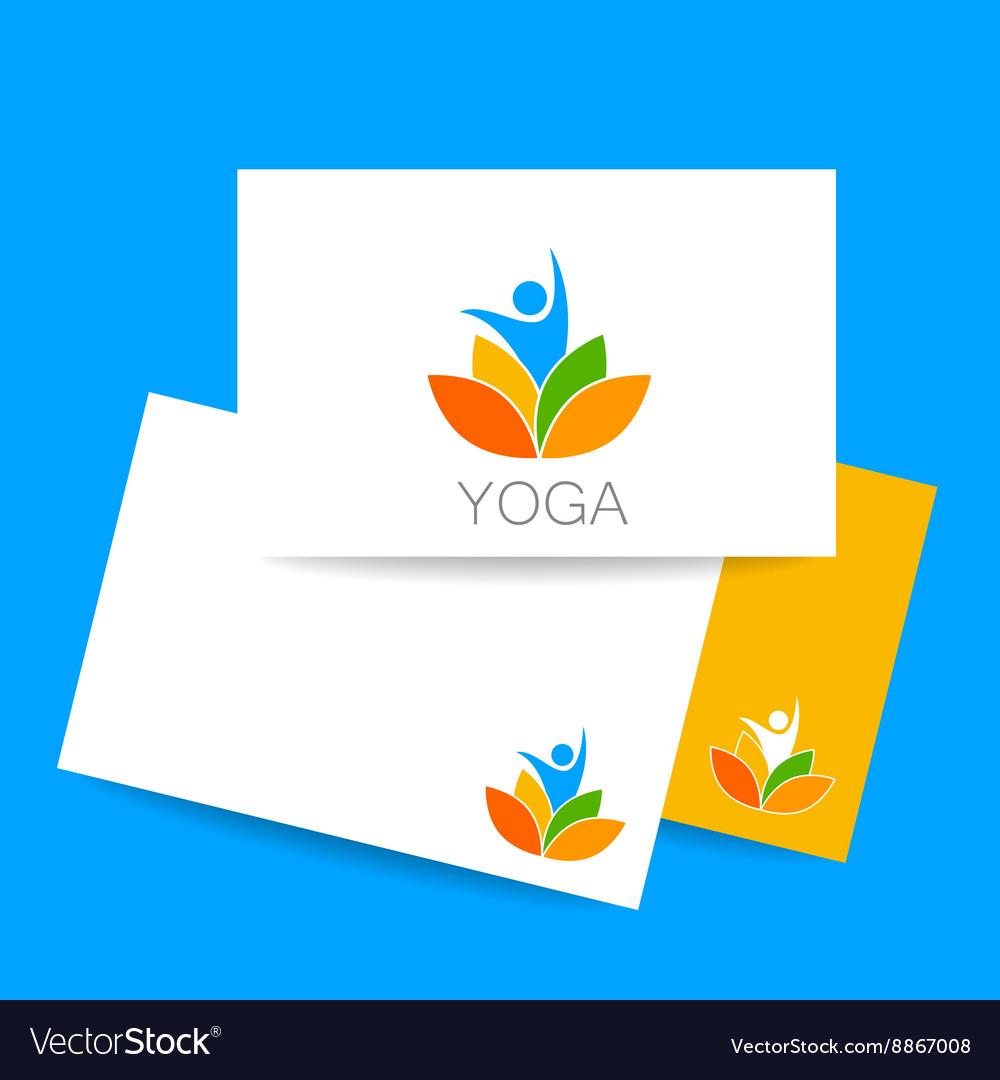 Yoga lotos logo template