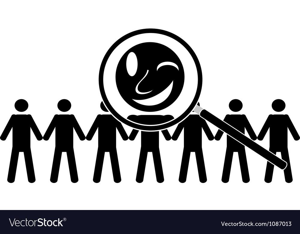 Choose happy employee vector image