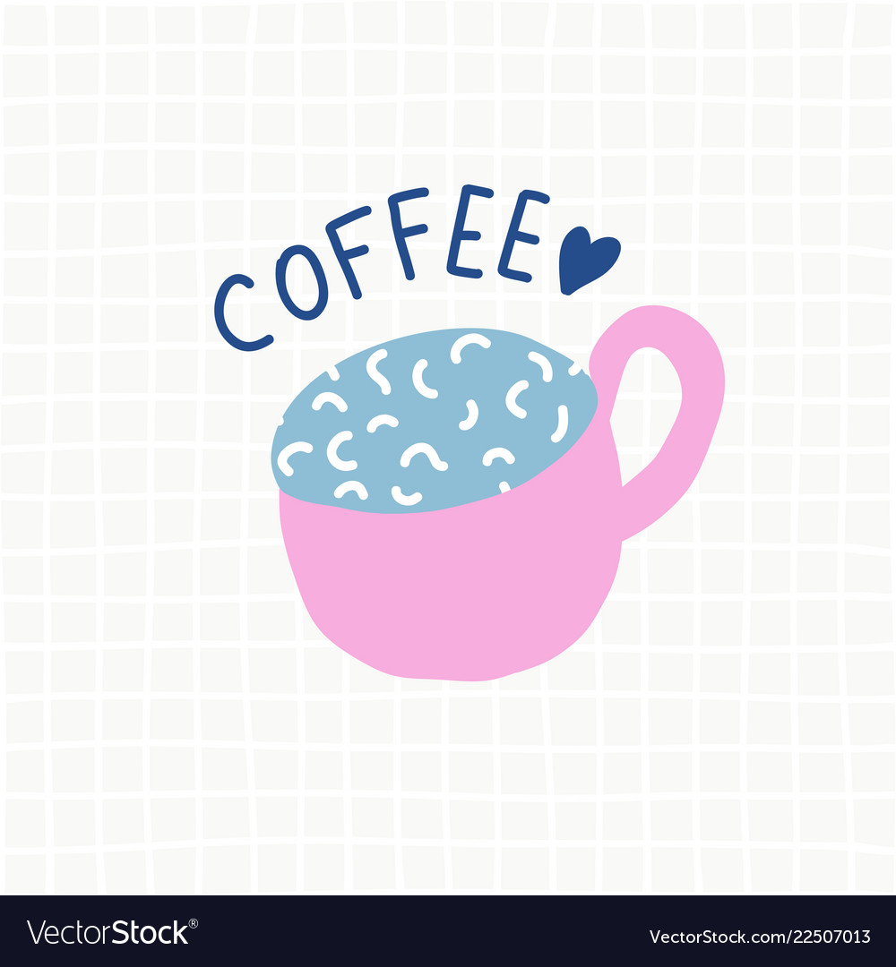 Coffee cup cartoon cute logo
