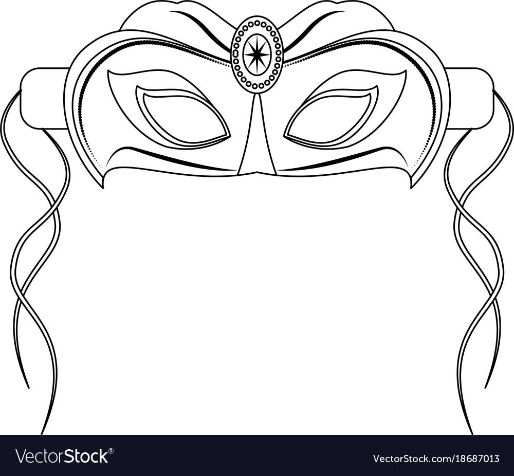 mardi gras mask royalty free vector image vectorstock