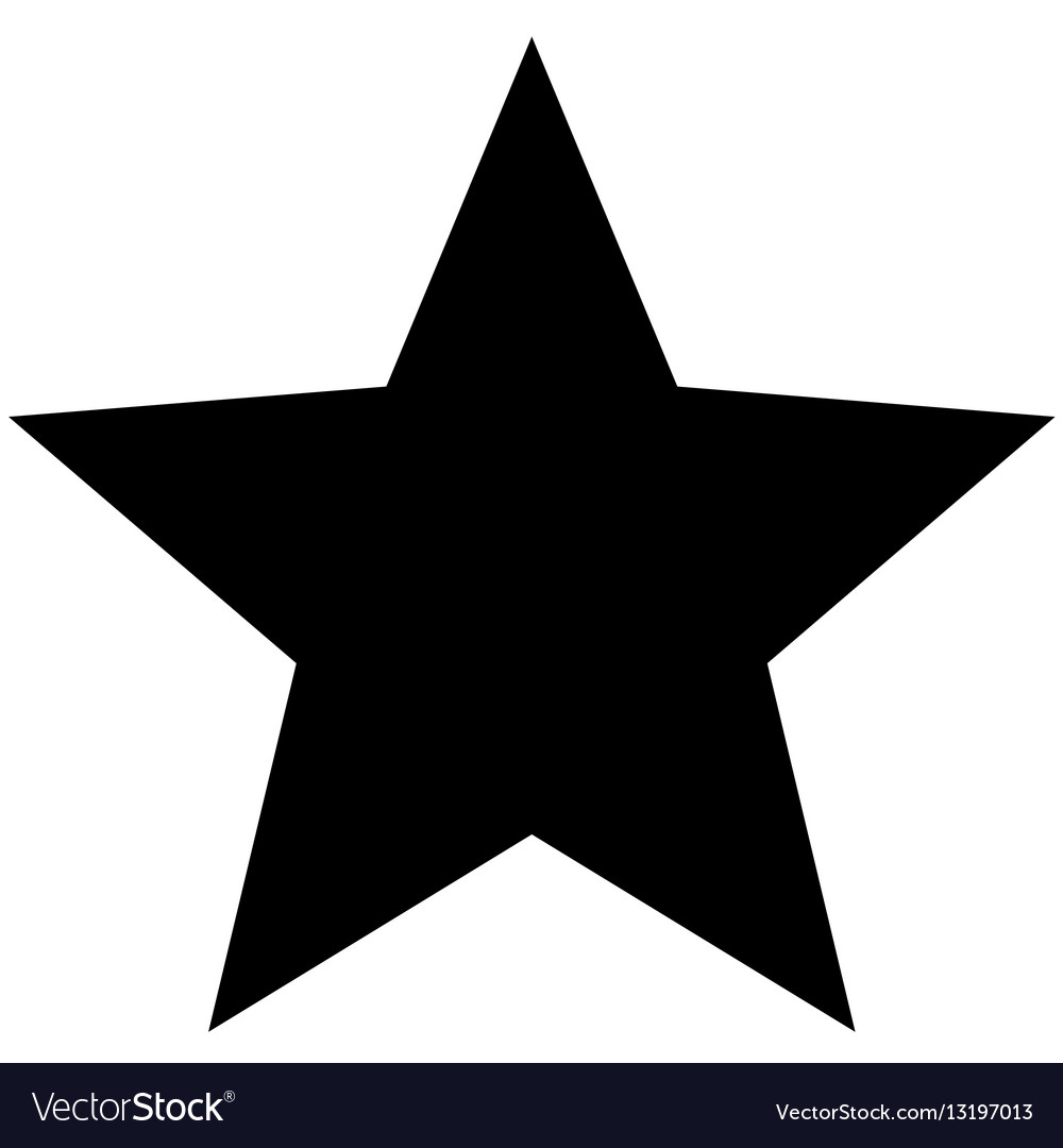 minimalistic black star icon template royalty free vector