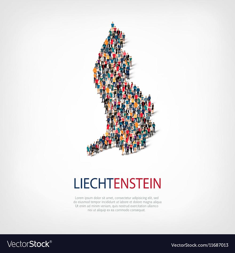 People map country liechtenstein