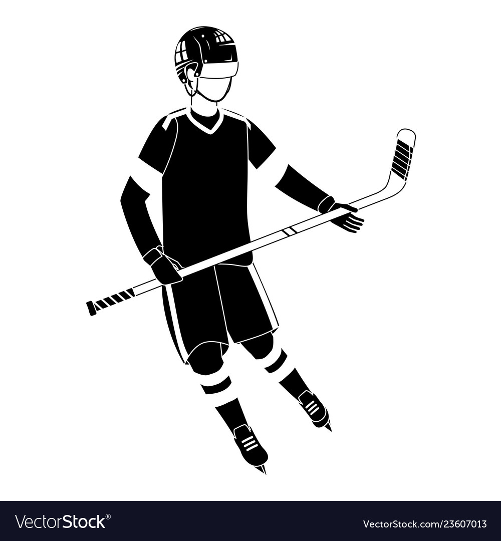 Player Hockey Gear And Equipment In