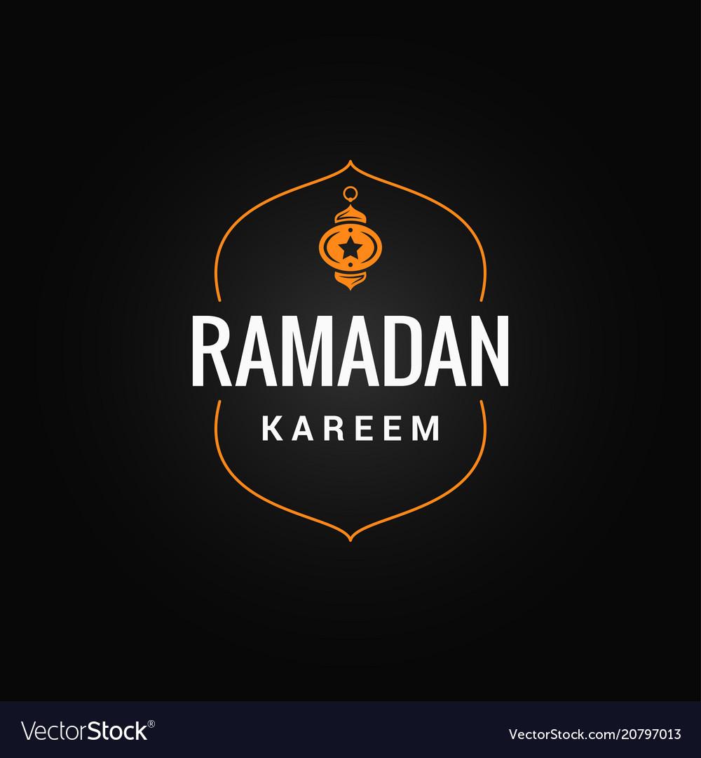 Ramadan kareem logo on dark background