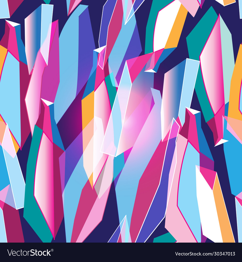 Seamless abstract pattern with different
