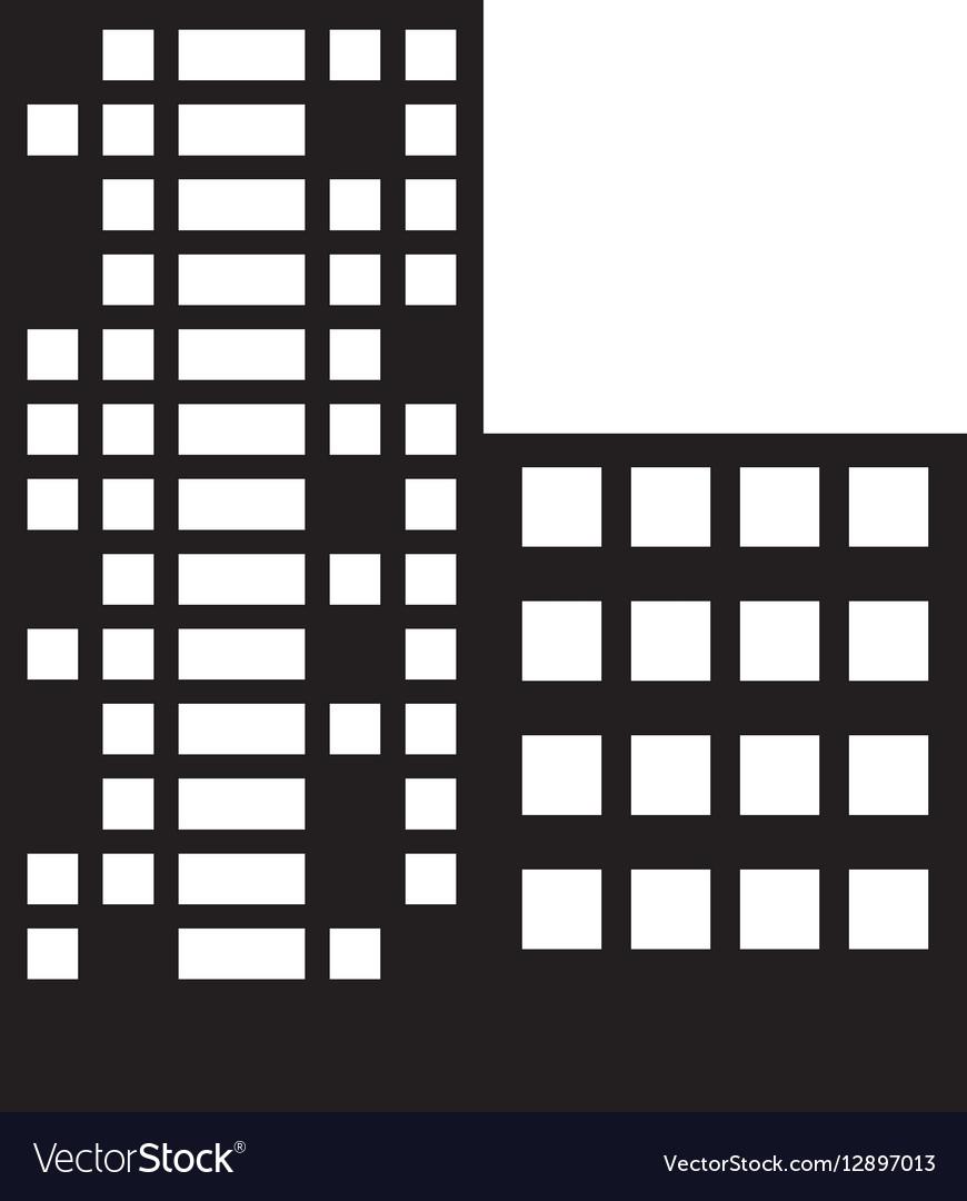 Silhouette buildings and city scene line sticker