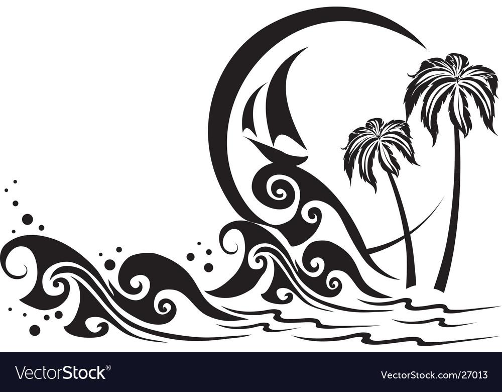 The black sea vector image