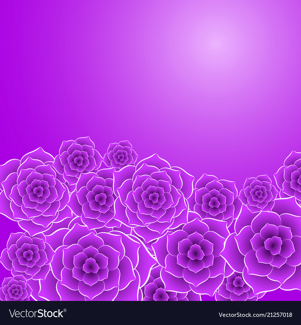Beautiful Violet Rose Flower Background Royalty Free Vector