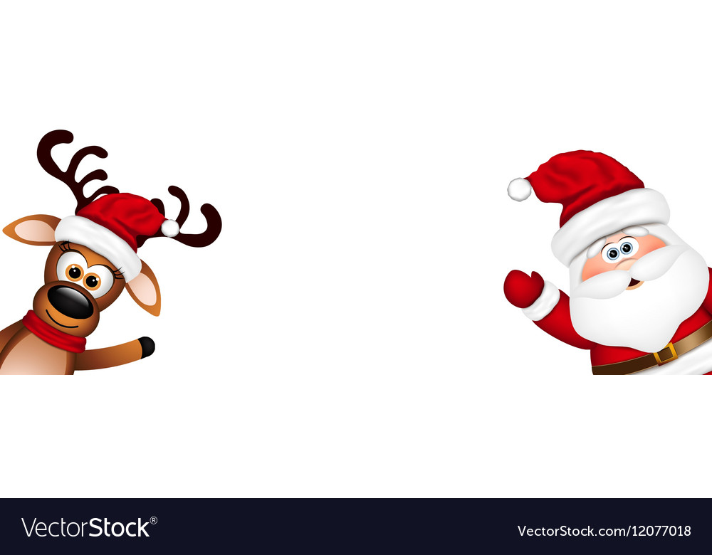 Funny Christmas Picture.Christmas Background Funny Santa And Reindeer