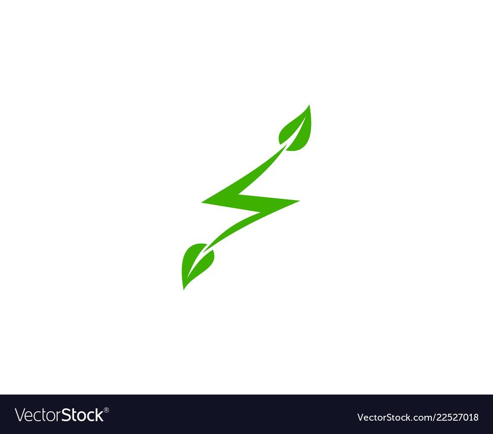 Eco electric icon logo design element