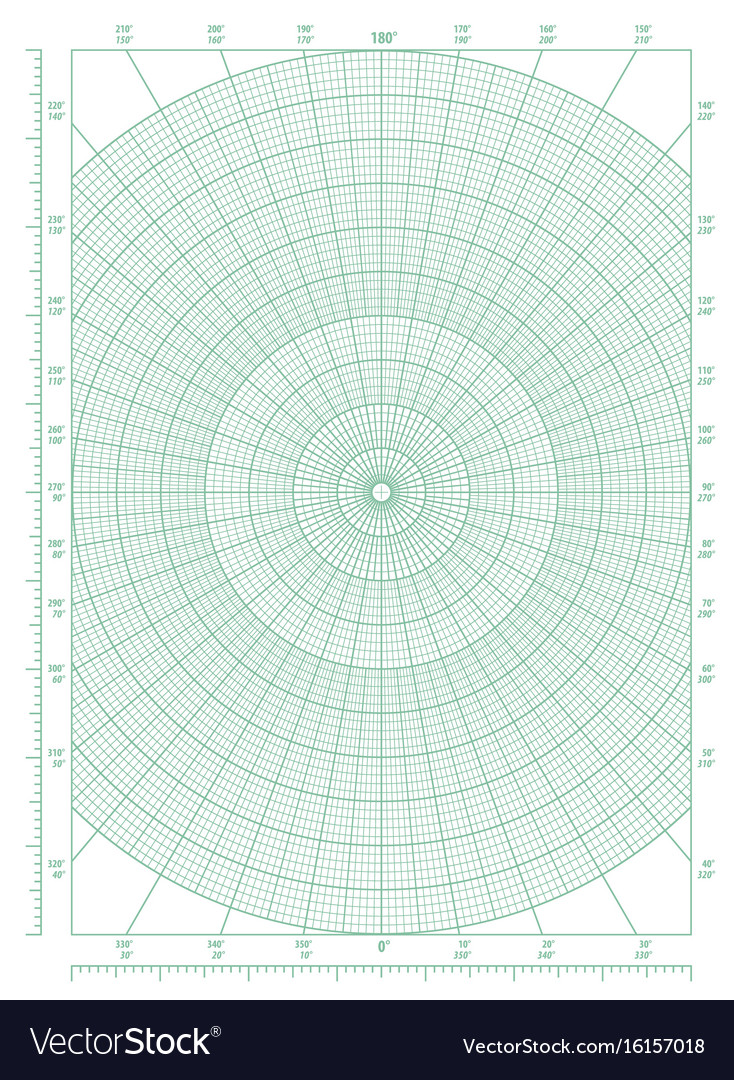 image relating to Printable Polar Graph Paper identified as Environmentally friendly polar coordinate round grid graph paper