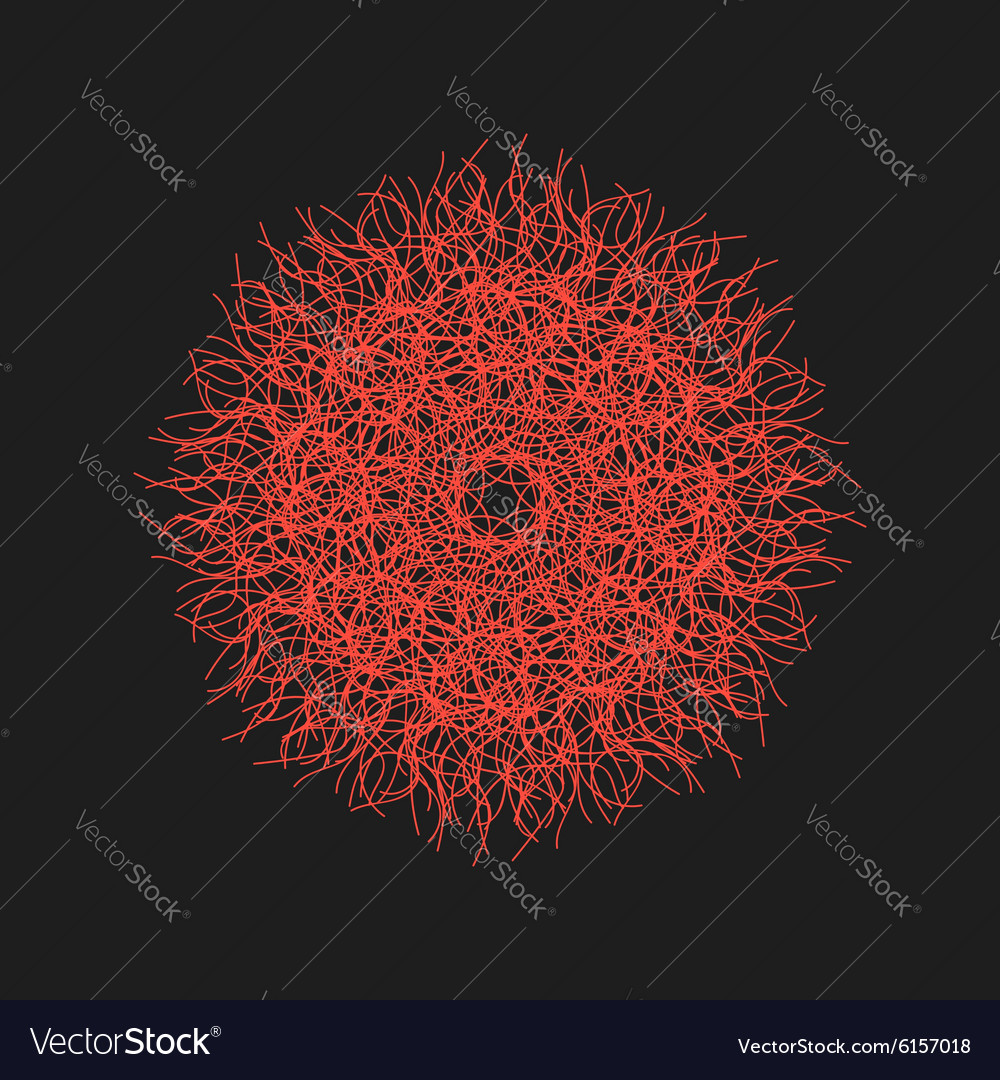 Red abstract flower isolated on black background
