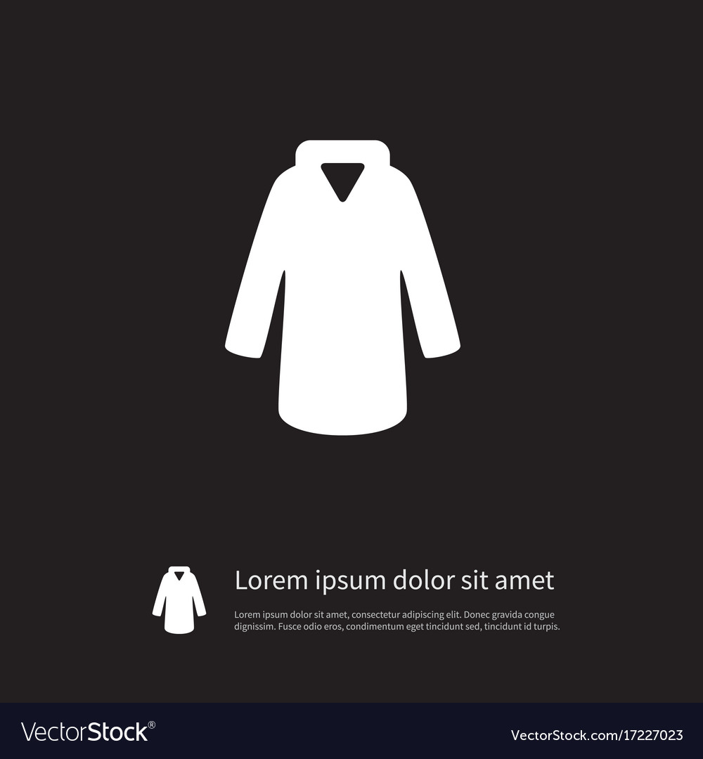 Isolated cloth icon model element can be vector image