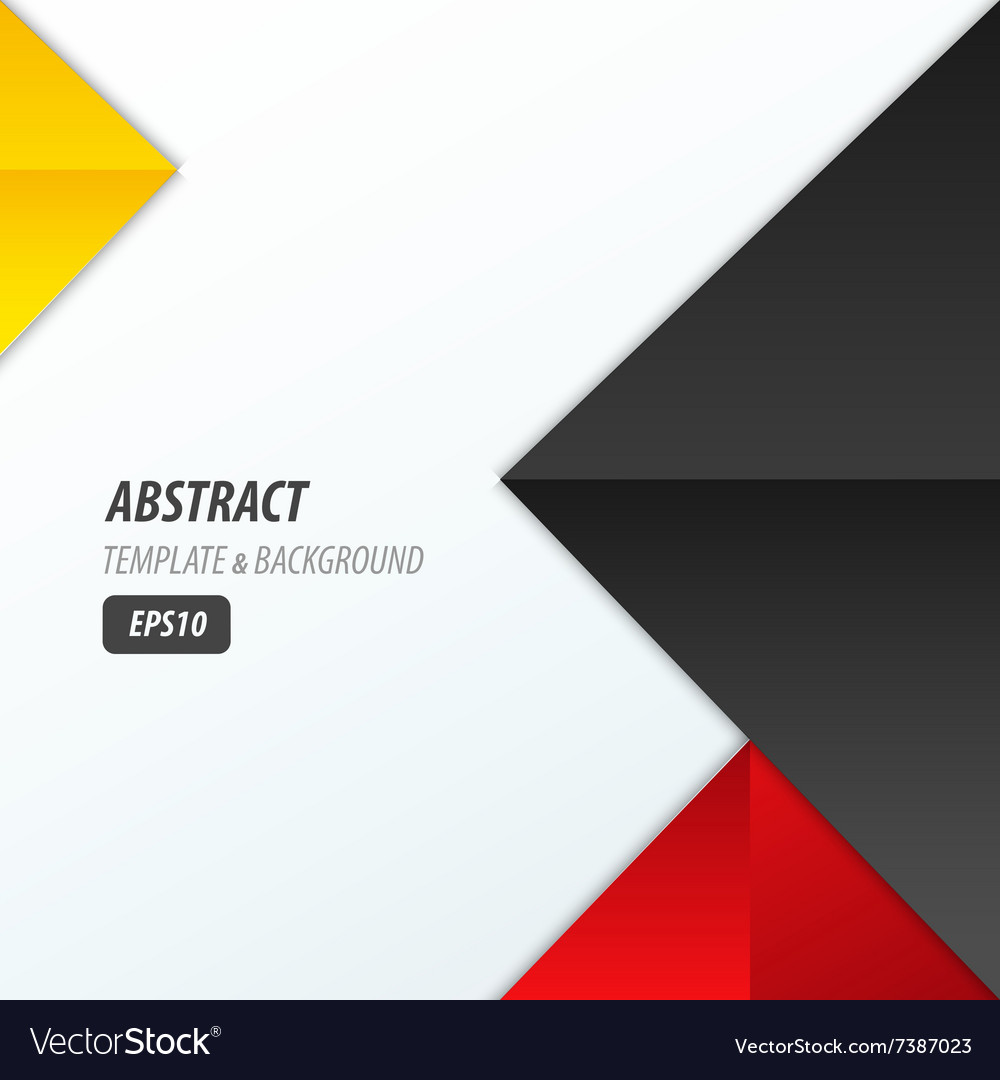 Pyramid design template 3 color yellow black red