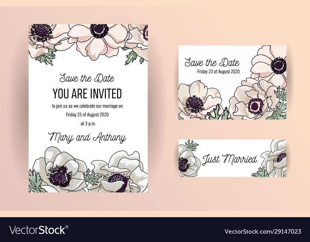Wedding invite invitation save date card