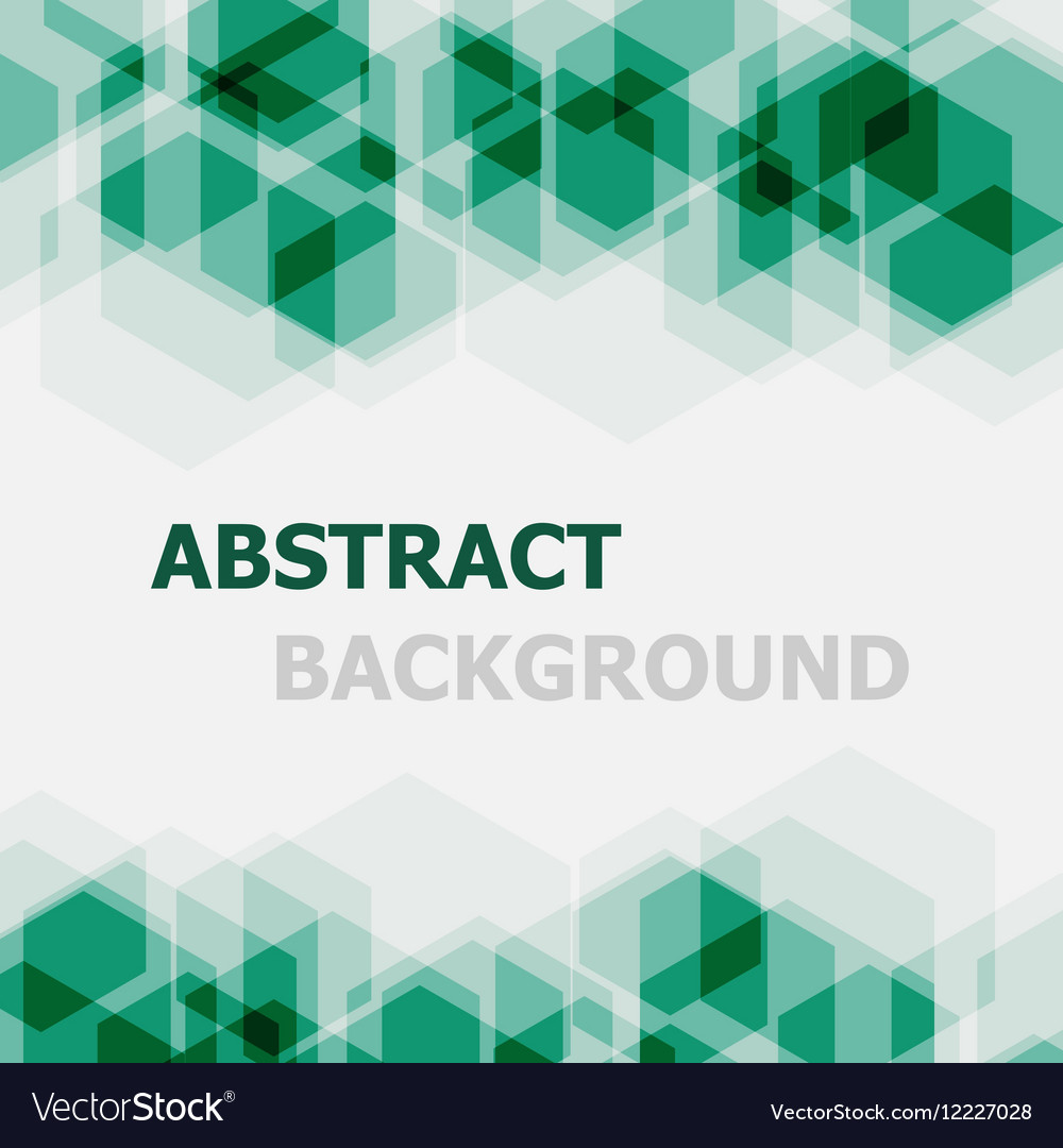Abstract green hexagon overlapping background
