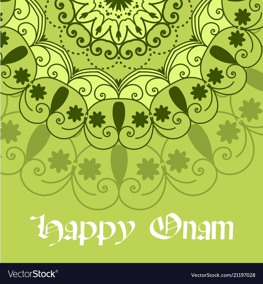 Beautiful onam festival abstract mandala designs