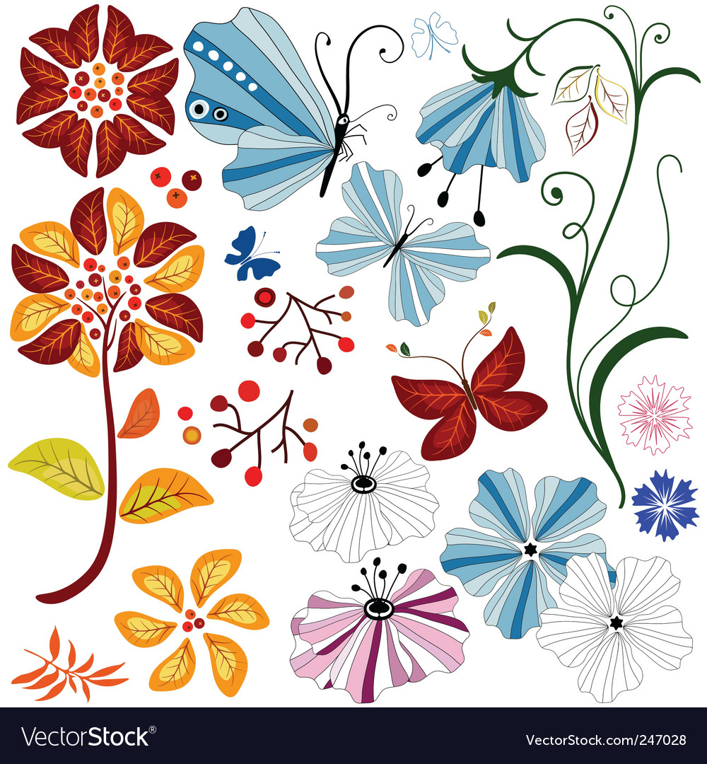 Collection abstract of design element vector image