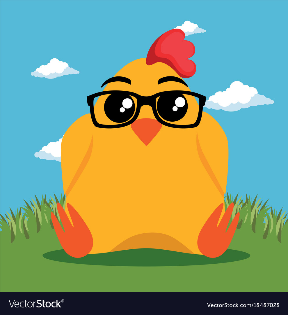 Cute chicken animal cartoon