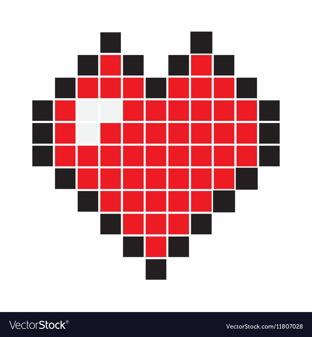 Heart Pixel Icon Royalty Free Vector Image Vectorstock