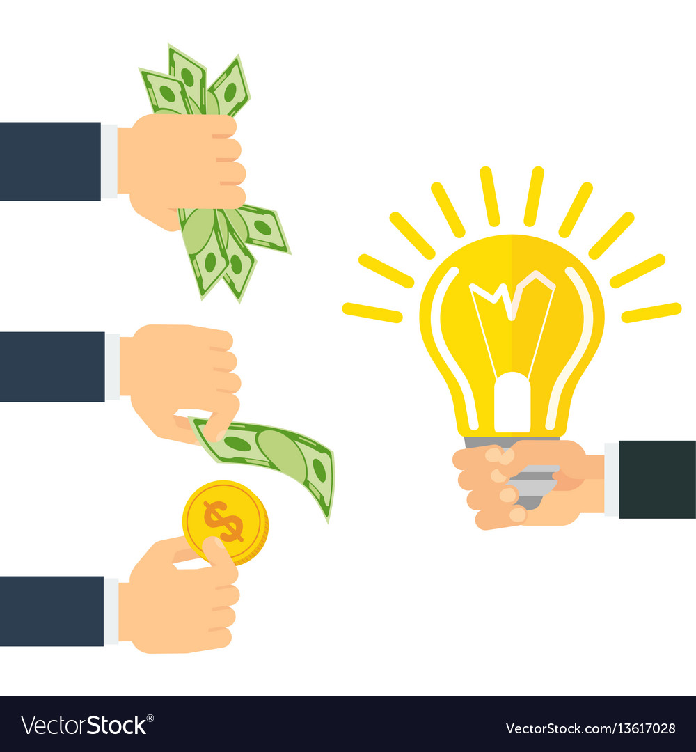 Money for idea vector image