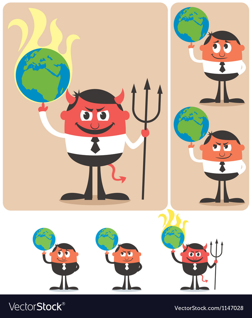 Owning Earth vector image