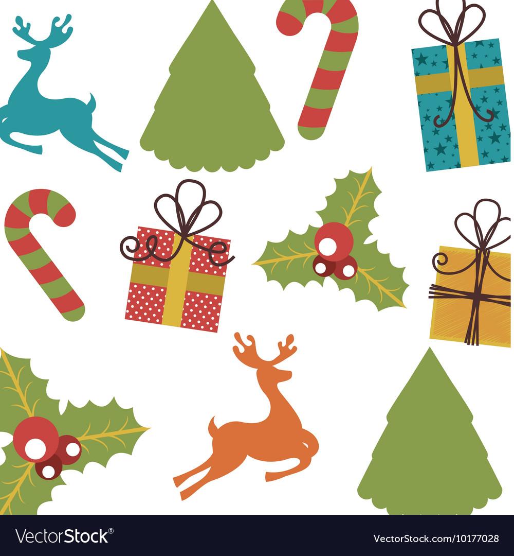 Set icons pattern christmas icon