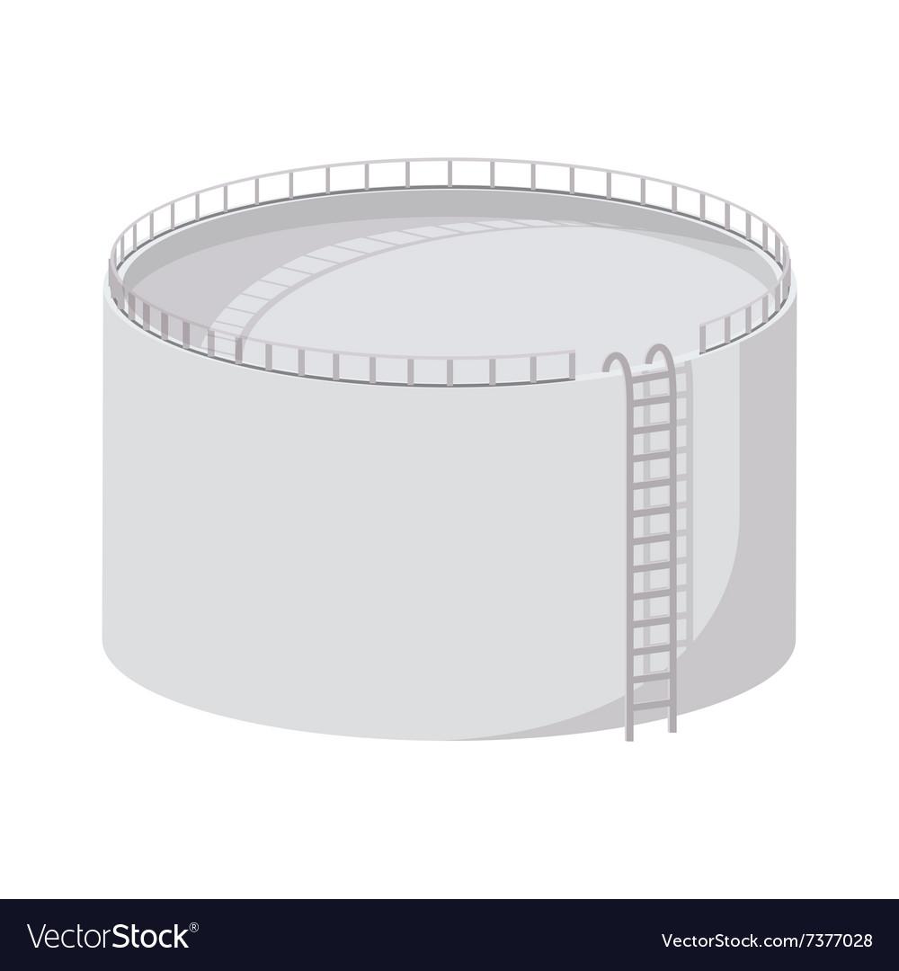 Storage oil tank cartoon icon vector image