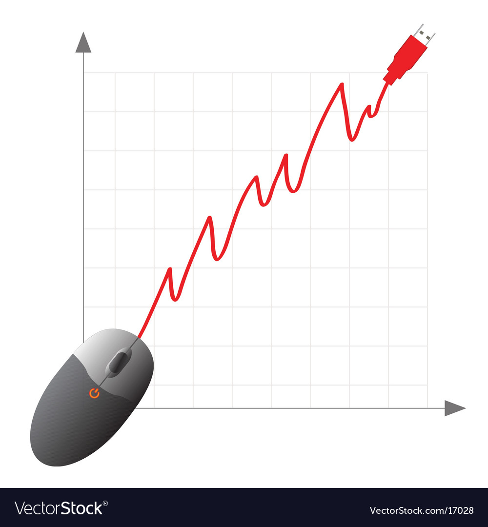 Usb Computer Mouse Graph Royalty Free Vector Image Diagram