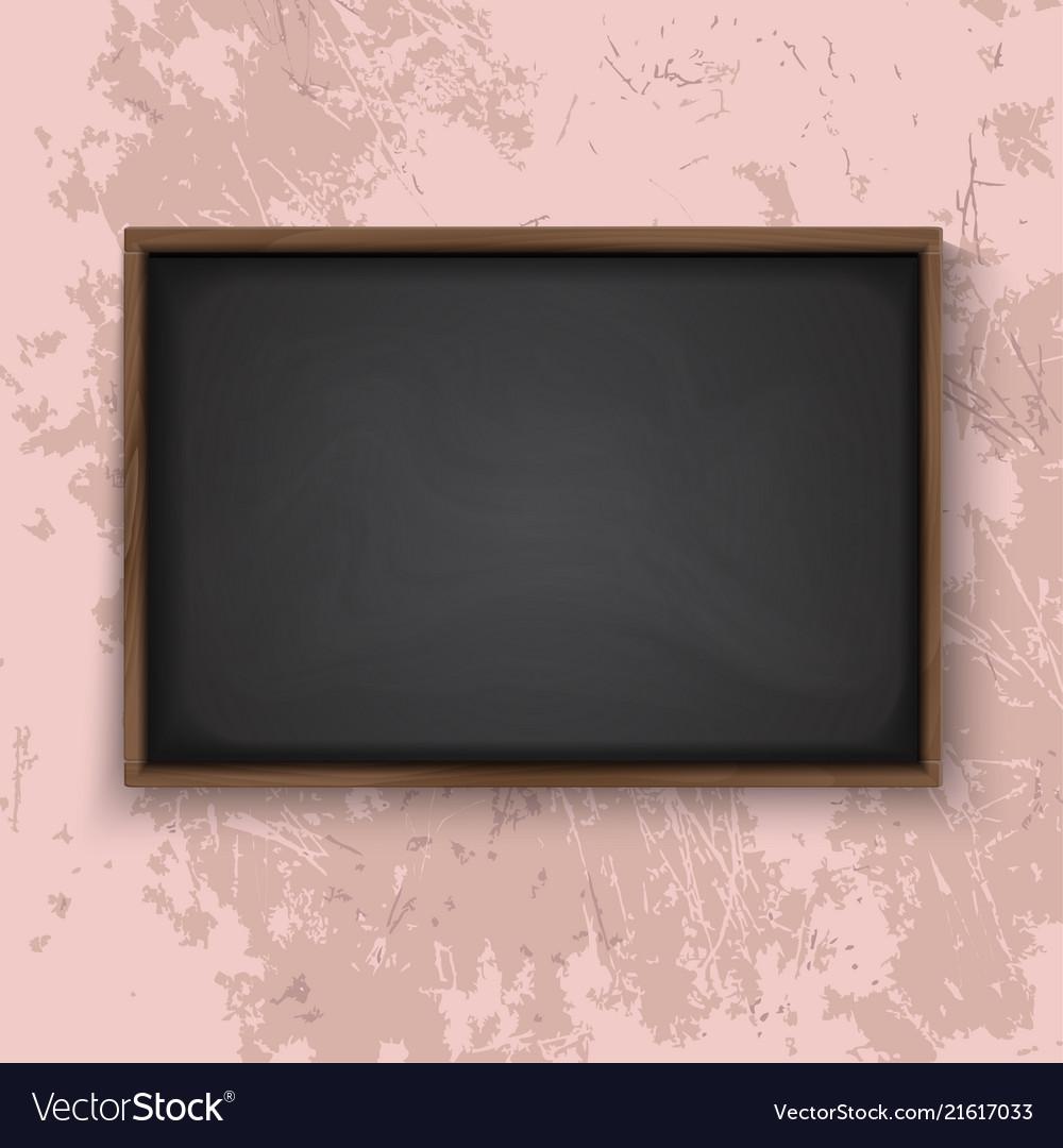 Blackboard on the wall