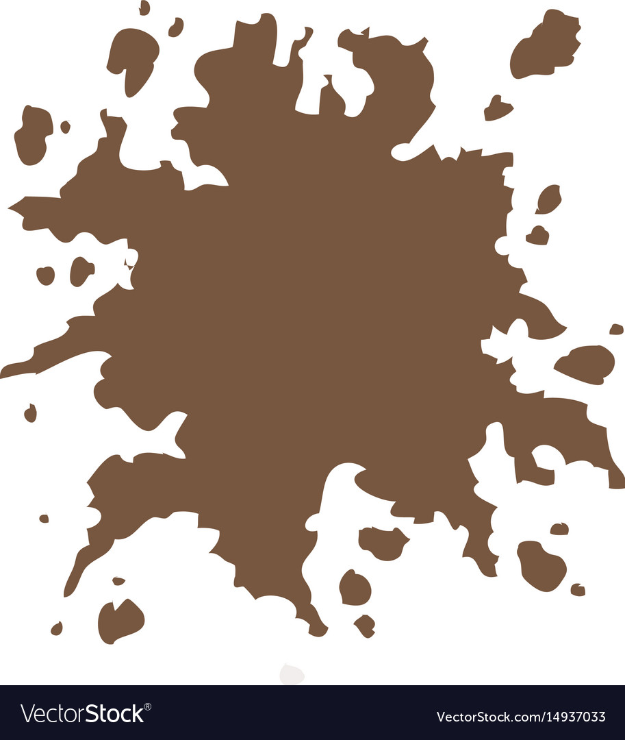 Brown splash color paint abstract design