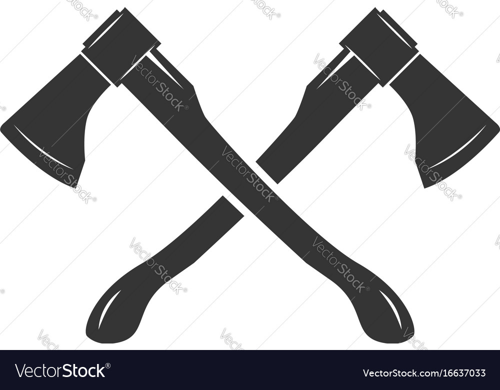 crossed axes isolated on white background vector image rh vectorstock com Crossed Axes Clip Art Crossed Axes Clip Art