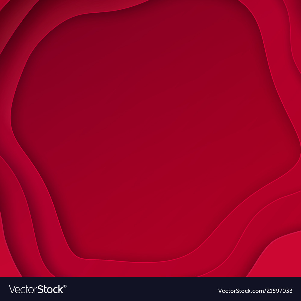 Cut paper red background