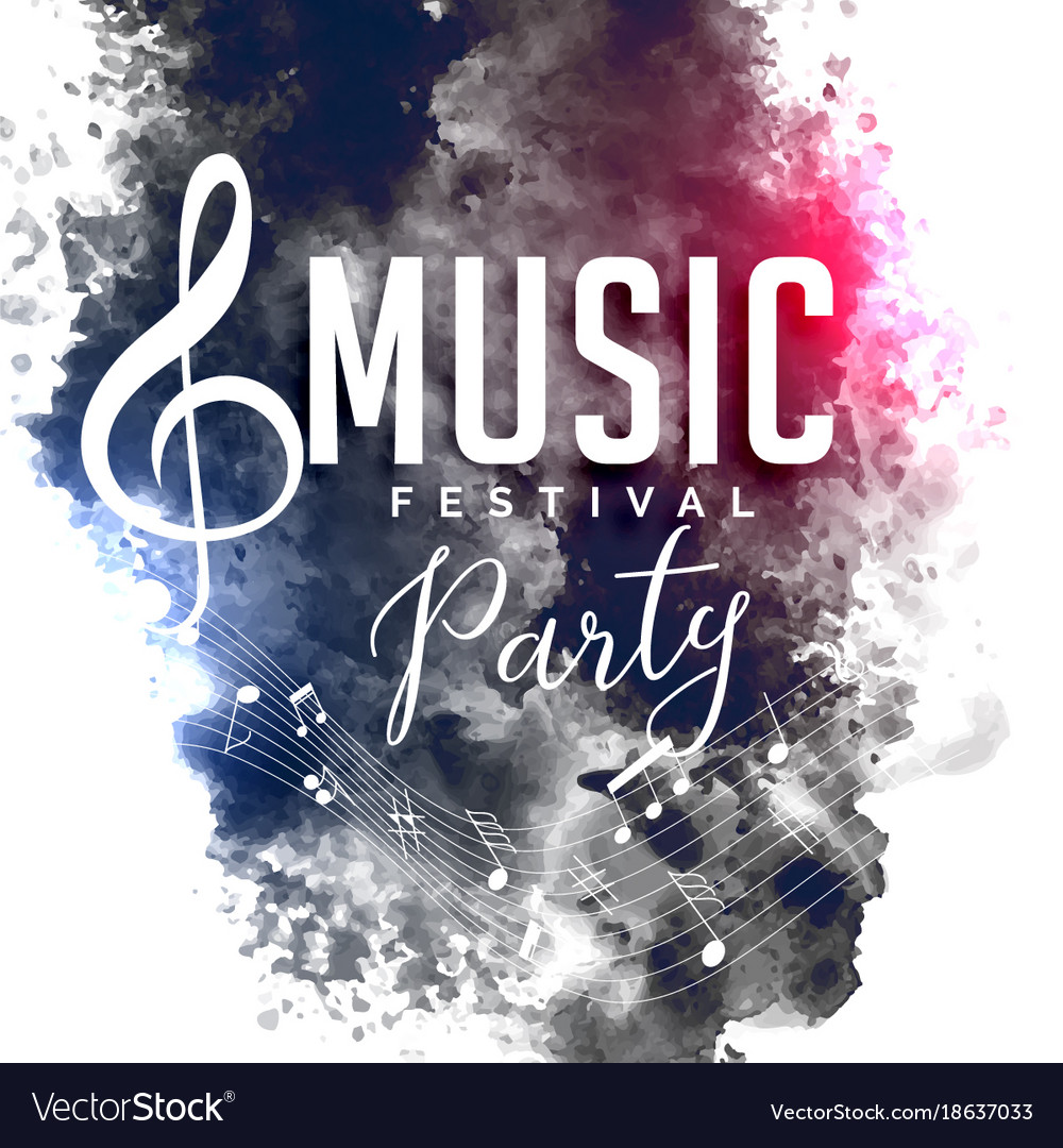 Grunge style music party festival flyer poster vector image