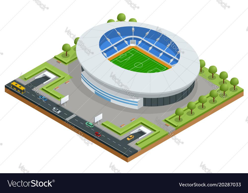 Isometric sport stadium football soccer stadium