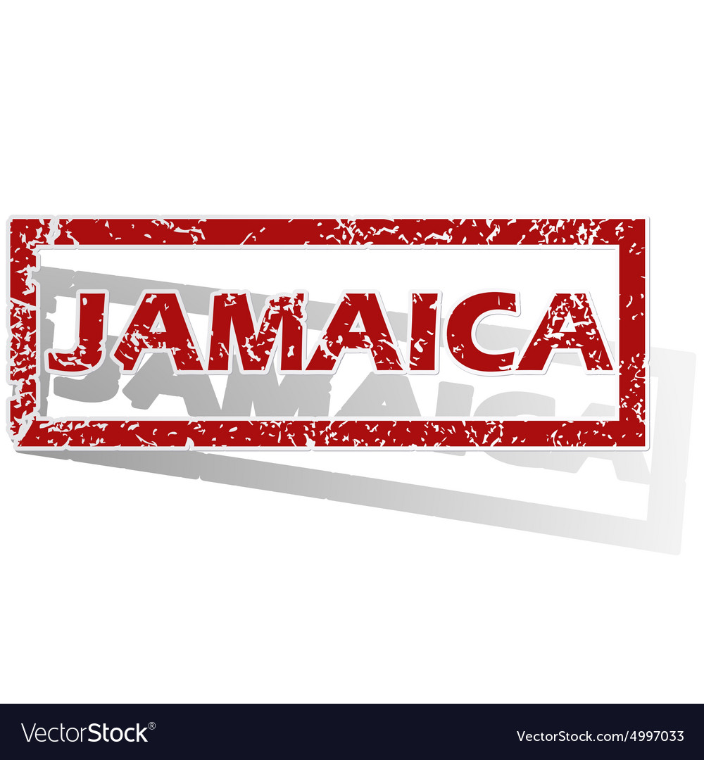 Jamaica outlined stamp vector image on VectorStock