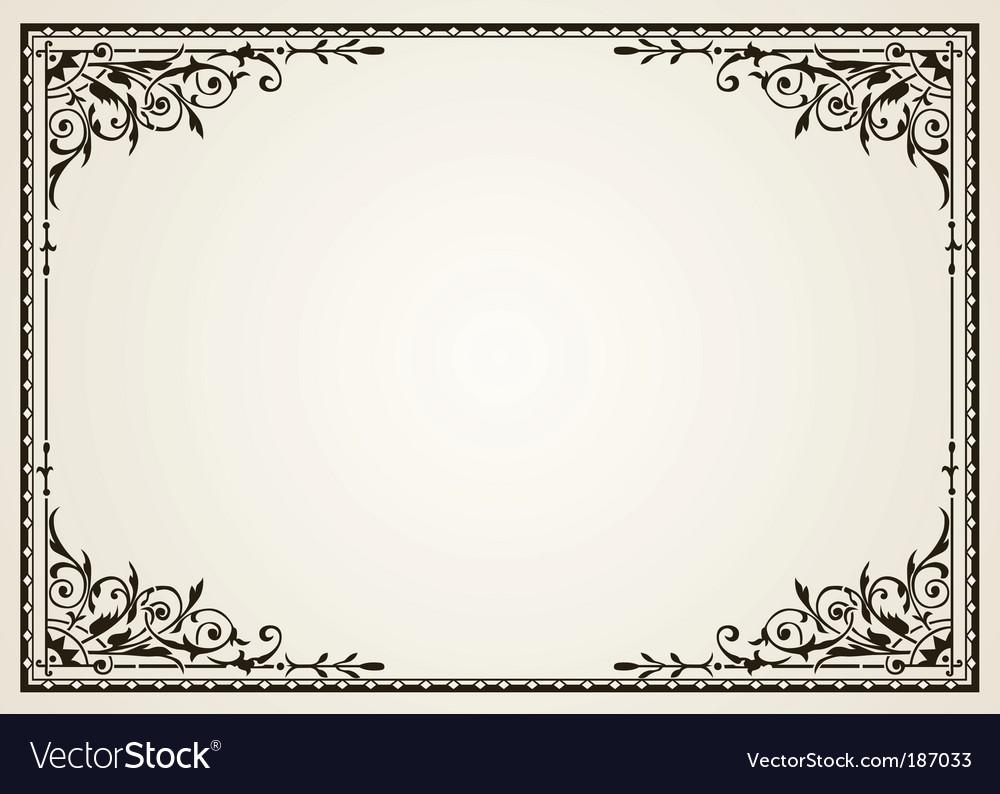 Ornate swirl frames Royalty Free Vector Image - VectorStock